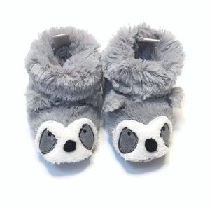 Other - Faux Fur Raccoon Baby Booties